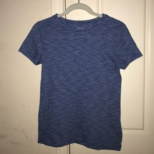 Blue and white striped target shirt